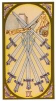 Nueve de espadas
