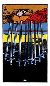 Diez de espadas invertido