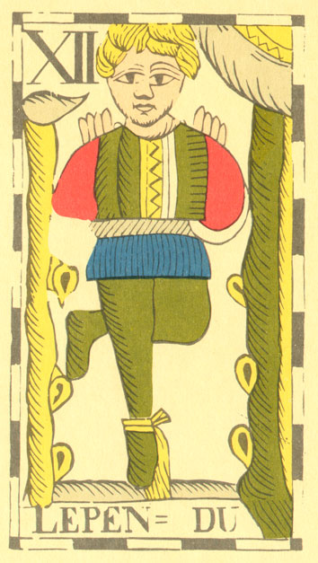 El colgado, según la baraja Flamand de 1780