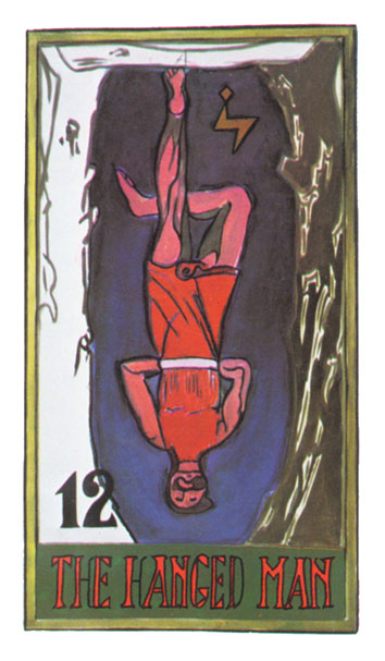 El colgado en el Tarot de Papus