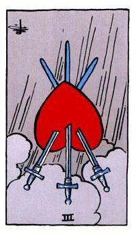 Tres de espadas invertido