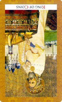 Rey de oros, invertido.