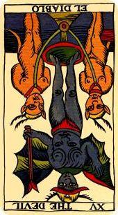 XV - El Diablo, invertido.