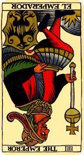 IV - El Emperador, invertido.