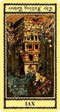 XVI - La Torre o Casa de Dios, invertido.