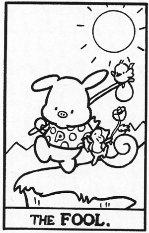 La carta de El Loco en el Tarot de Hello Kitty