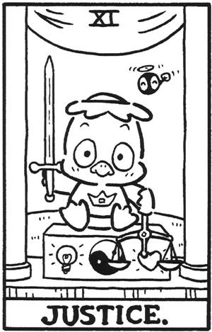 La justicia en el Tarot de Hello Kitty